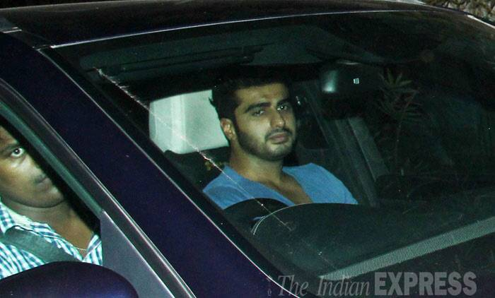 Arjun Kapoor makes an entrance sans his onscreen ladylove Alia Bhatt. (Photo: Varinder Chawla)