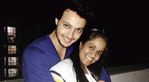 Arpita Khan poses with beau Aayush.