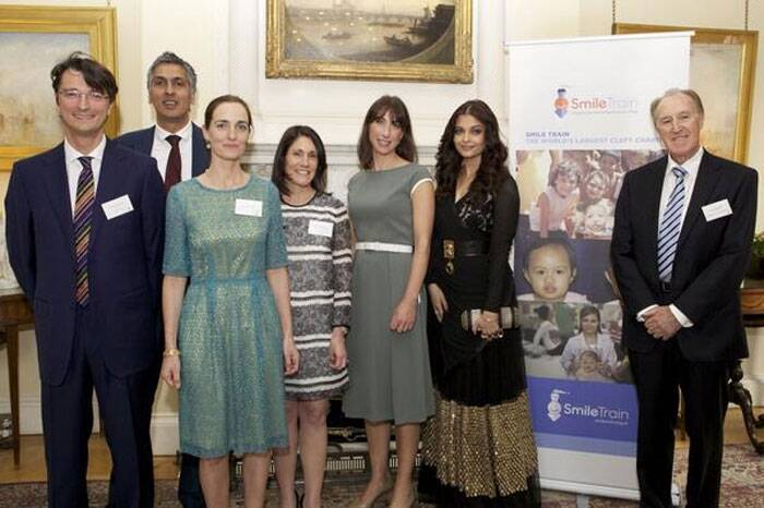 Aishwarya Rai is the Smile Train Goodwill Ambassador and celebrated the marking of the one millionth smile surgery along with other members of the Smile Train. (Source: Twitter)