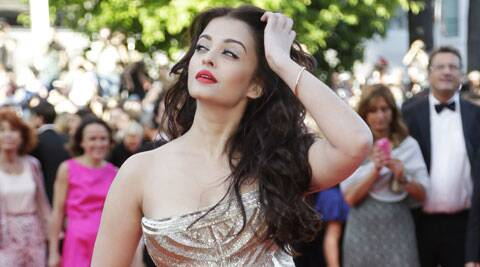 Aishwarya Rai chose to wear a fish tail Roberto Cavalli gown.