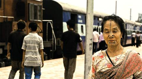 Eastward bound: A woman at the Naharlagun railway station