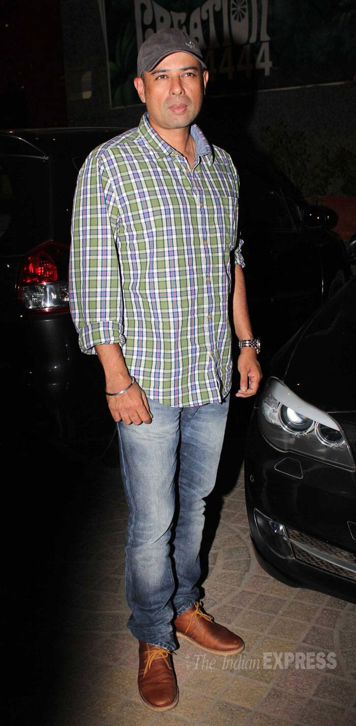 Filmmaker Atul Agnihotri was present in denims, a shirt and his trademark cap. (Photo: Varinder Chawla)