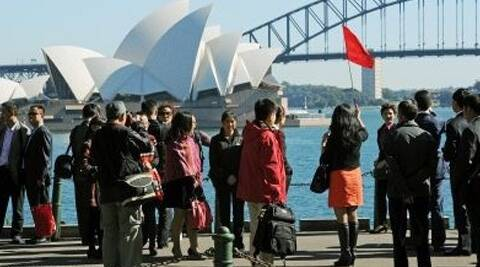 Arrivals from India to Australia is estimated to be 179,000 for the year 2013-14.