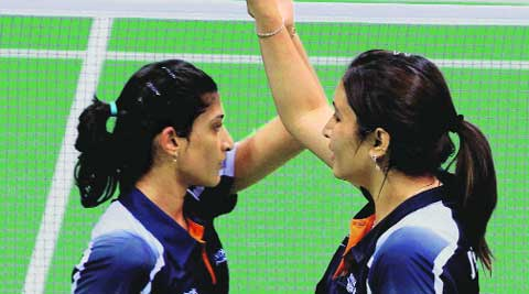 Ashwini Ponappa and Jwala Gutta have hit form in time for the tournament. They bagged a bronze at Asian Championships last month. file