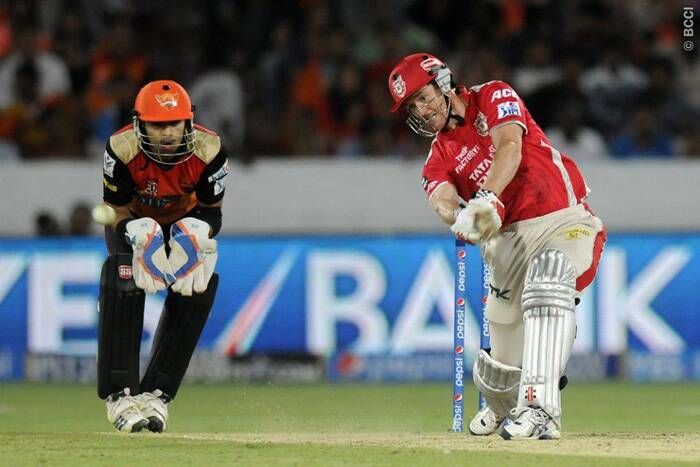 Kings XI Punjab skipper George Bailey led his side to their second 200-plus chase in the ongoing Pepsi IPL tournament with a quickfire innings of 35 runs that came off just 19 balls. (Photo: IPL/BCCI)