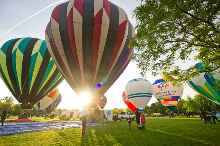 The 40th Annual Walla Walla Balloon Stampede kicked off  at Howard Tietan Park in Walla Walla.<br />Balloons are inflated during the 40th Annual Balloon Stampede. (AP)