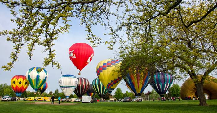 It's the longest running balloon stampede in the Pacific Northwest and the second oldest in the US. <br />Balloons are inflated during the Annual Balloon Stampede. (AP)
