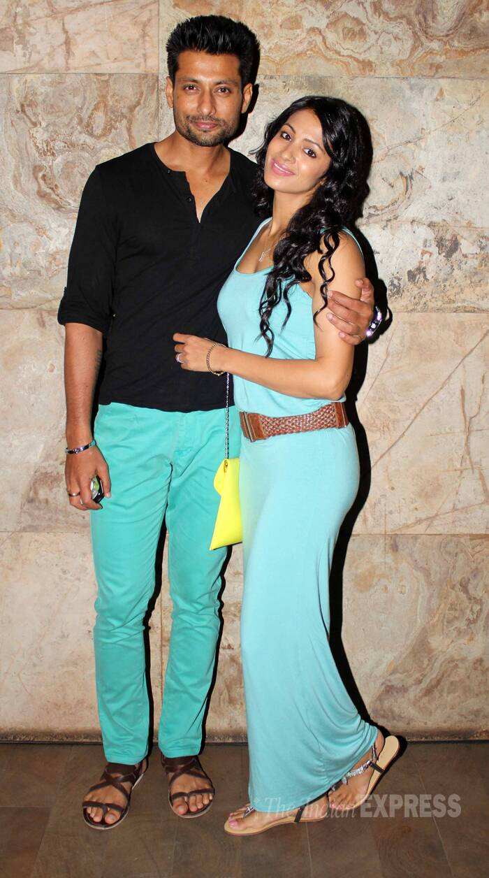 Actor couple Barkha Bisht and Indraneil Sengupta were also at the screening. (Photo: Varinder Chawla)