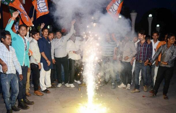 Counting begins, early celebrations by BJP, Narendra Modi supporters