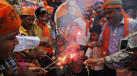 Celebrations have begun even before his arrival in the national capital. (Source: AP)