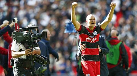 A defensive error allowed Zamora to curl in with QPR's only shot on target (Source: Reuters)