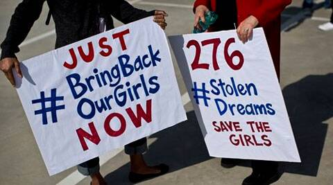 South Africans protest in solidarity against the abduction three weeks ago of hundreds of schoolgirls in Nigeria by the Muslim extremist group Boko Haram. (AP)