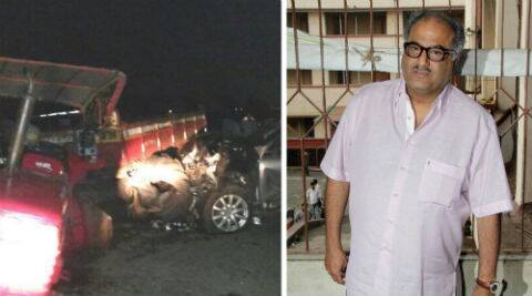 Boney Kapoor sustained minor injuries after his car collided with a tractor near Wai.