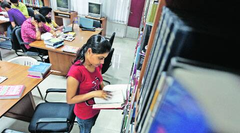At State Library in Sector 17, Chandigarh. (Source: Express photo by Jasbir Malhi)