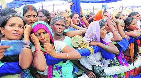 Women at a Mayawati rally in Azamgarh. (Ashutosh Bhardwaj)