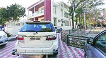Portion of park next to former MP's house is now private parkingspace