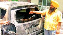 2 youths set car on fire, catch fire themselves