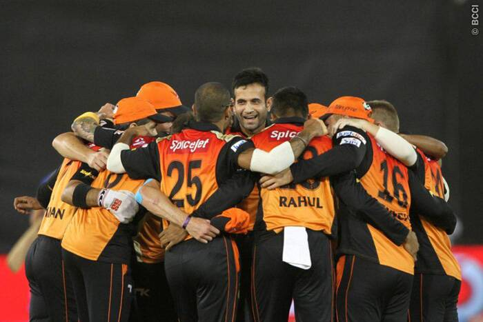 Sunrisers Hyderabad celebrate their 32-run victory over Rajasthan Royals in Ahmedbad on Thursday. (Photo: BCCI/IPL)