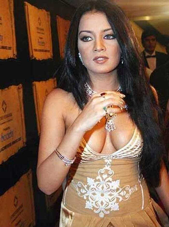 Another beauty queen, Celina Jaitley also messed up her eye make up with the white patchiness.