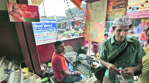 Pappu Chaiwala at his stall in Varanasi.Javed Raja