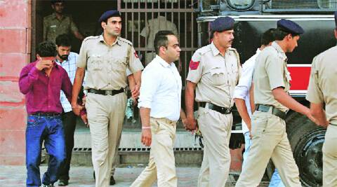 The accused after the conviction at the District Courts in Sector 43, Chandigarh, on Thursday