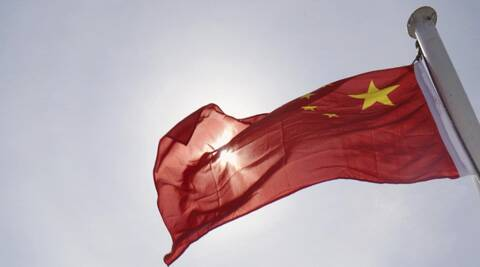 Chinese flag. (AP)