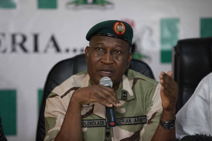 Nigeria has deployed two army divisions to hunt for the girls, while several countries, including the United States, Britain, Israel and France, have offered help or sent experts.<br />Brig. Gen. Chris Olukolade, Nigeria's top military spokesman, speaks during a press conference on the abducted school girls in Abuja, Nigeria. ( Source: AP )