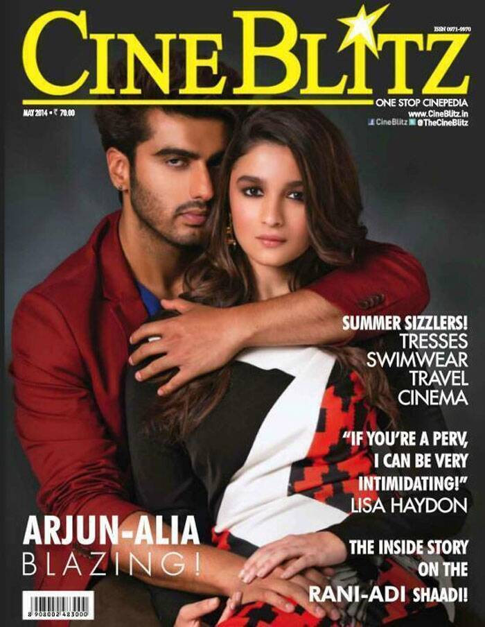 After winning over audiences with their crackling chemistry, rumoured lovers Arjun Kapoor and Alia Bhatt have shot for a magazine cover together. The duo look sexy as they pose for the cover.