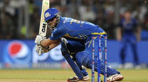 Corey Anderson smashed 95 off 44 balls to guide MI into the playoffs (Source: IPL/BCCI)
