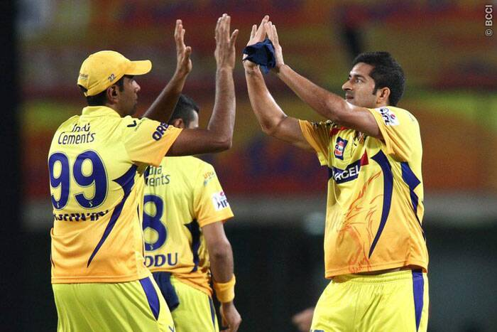 Chennai players celebrate their win over Kolkata by 34 runs in Ranchi on Friday.  (Photo: BCCI/IPL)