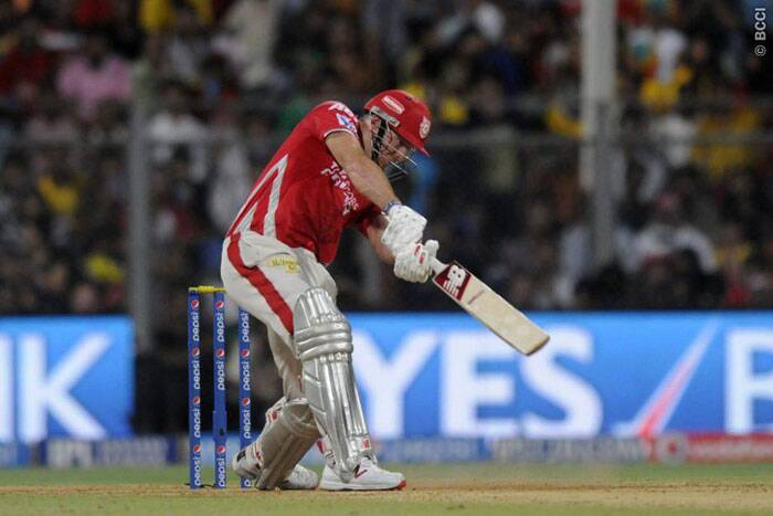 David Miller played a handy cameo of 38 and shared a 63-run partnership with Virender Sehwag. He was later run-out by Chennai Super Kings captain Mahendra Singh Dhoni.  (Source: IPL/BCCI)