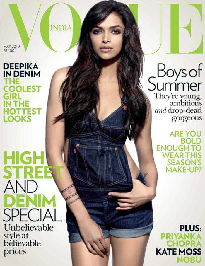 Given the soaring summer temperatures, B-Town's reigning queen Deepika Padukone has ditched the ultra-glam look as she makes denim looking smoking hot in the cover shoot for a fashion magazine. <br /><br /> Looking comfortable in a short denim dungaree, Deepika still manages to pull off the look coming across as every bit the diva she is.