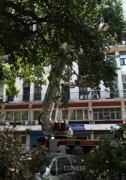 Minor fire broke out in Shastri Bhawan