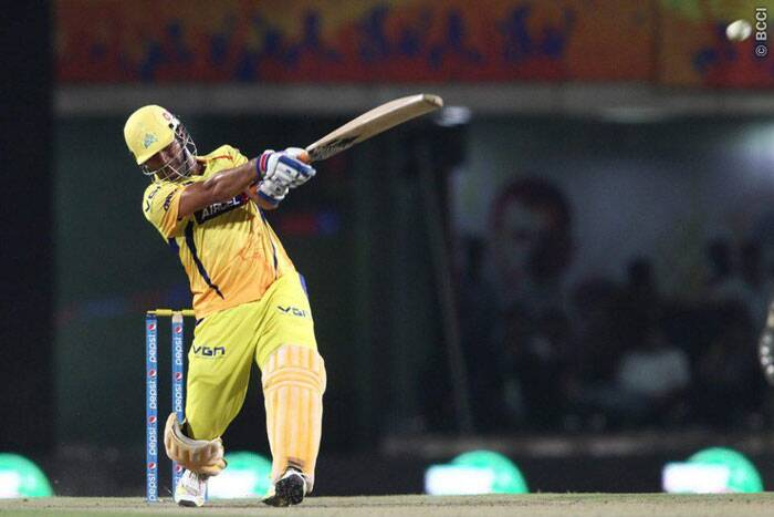 Chennai Super Kings captain, Mahendra 'The Finisher' Dhoni, played another exemplary innings to guide his side to a comfortable victory over Rajasthan Royals. Needing 12 runs from the last over bowled by James Faulkner, Dhoni struck a six off the second ball to reduce the victory margin by six runs. (Photo: IPL/BCCI)