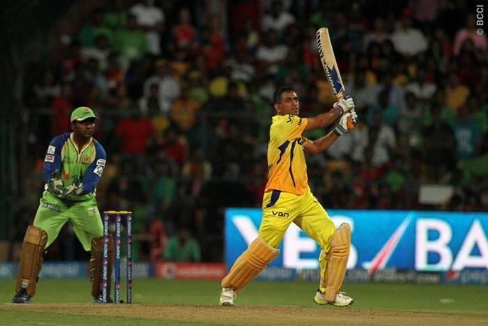 Chennai Super Kings captain Mahendra Singh Dhoni proved yet again why he is regarded as the finest finisher in the game, as he scored a match-winning 49 off just 28 balls. Dhoni was also involved in a crucial 75-run stand  with Faf du Plessis.  (Source: IPL/BCCI)