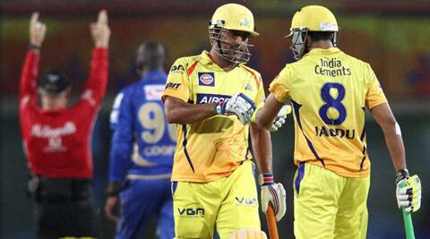 Mahendra Singh Dhoni's unbeaten 26 powered Chennai Super Kings to a comprehensive five wicket victory over Rajasthan Royals. (IPL/BCCI)