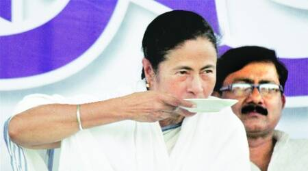 Mamata at an election rally in Berhampore, Murshidabad, on Friday. (PTI)