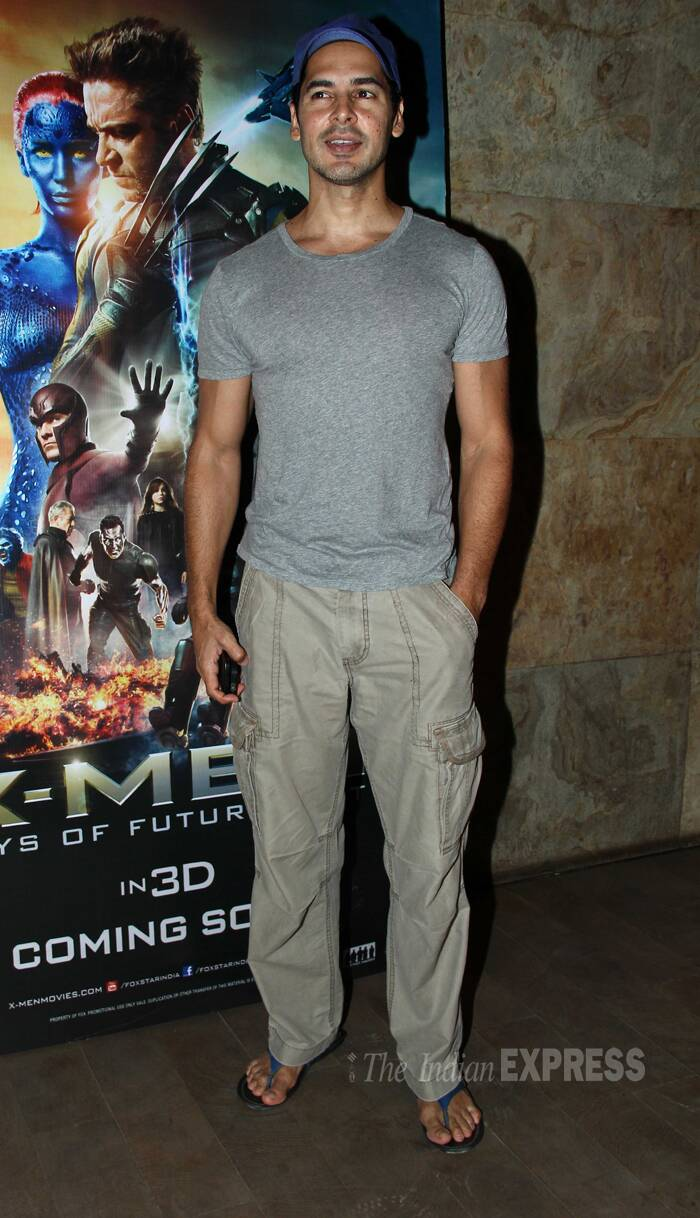 Dino Morea looks relaxed in track pants, t shirt and baseball cap. (Source: Varinder Chawla)