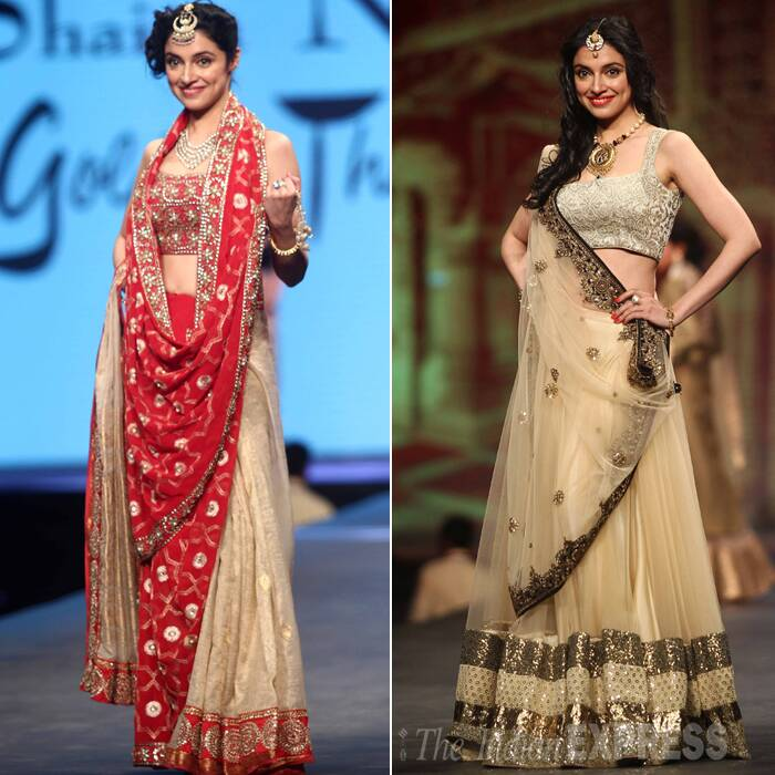 Newly-turned-director, Divya Khosla Kumar showcased two dazzling creations on the ramp. (Photo:Varinder Chawla)