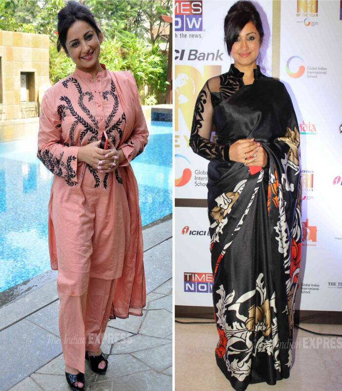 Divya Dutta gave us two reasons to put her on this list – the unflattering cotton salwar suit that is certainly not a choice for a brunch, and of course the black on black sari with a long-sleeved net blouse. Both made extremely poor choices.