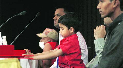 A young donor at the International Bone Marrow Transplant Summit in New Delhi.(Praveen Khanna)