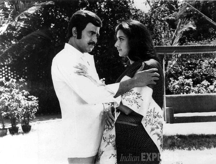<b>Dosti Dushmani</b>: Produced and directed by T. Rama Rao, the film has a multiple star cast - Jeetendra, Rajinikanth, Rishi Kapoor, Poonam Dhillon, Kimi Katkar, Bhanupriya,Pran, Kadar Khan, Asrani, Shakti Kapoor and Amrish Puri. It was a remake of Telugu Film Mugguru Mitrulu. (Source: Express archive photo)