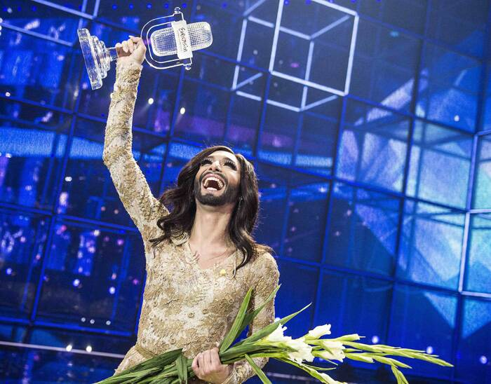 Wurst, Austria's first Eurovision winner since 1966, received the biggest cheers from the audience but also stirred controversy in some countries. (Reuters)