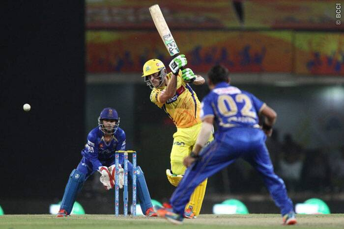 Chennai Super Kings  batsman Faf du Plessis steadied their chase with a 35-run partnership with Dwayne Smith. Du Plessis scored 38 runs from 39 balls. (Photo: IPL/BCCI)
