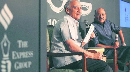 Former Union Minister Arun Shourie with Shekhar Gupta, Editor-in-Chief, The Indian Express