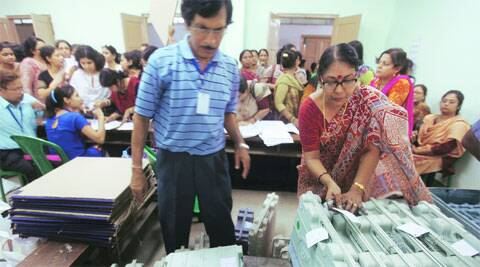 EVMs being readied in Salt Lake, Kolkata.Partha Paul