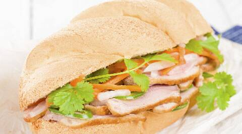 The Vietnamese banh mi is the baguette made airier.