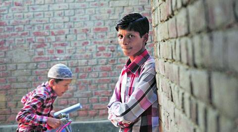 Mohammad Faizan outside his house in Nevada, Mubarakpur. (Neeraj Priyadarshi)
