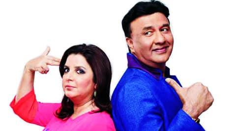 Farah Khan and Anu Malik strike a pose
