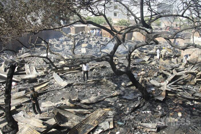 An overview of the burnt area. (Source: Express photo)